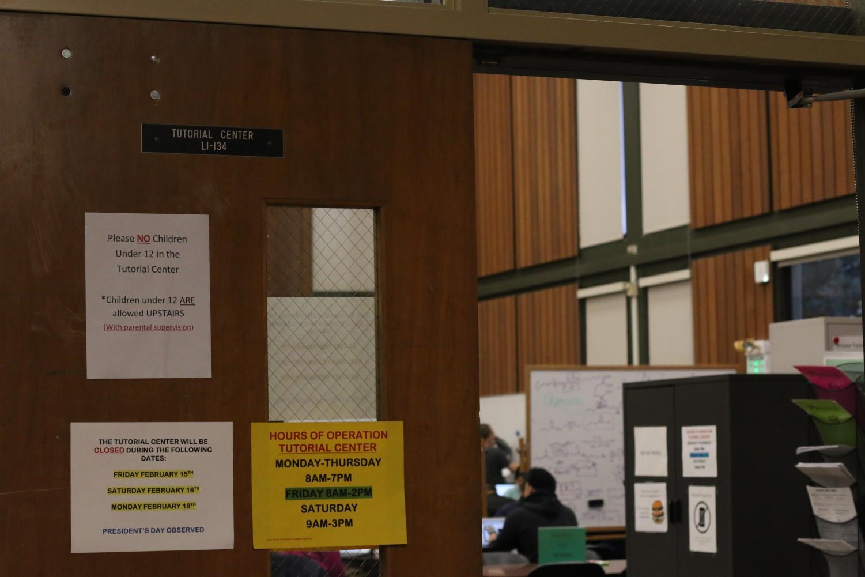 The door to the tutorial center.