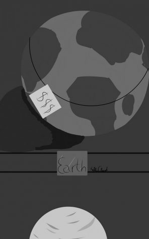 An illustration created by Kellie Clark on February 12, 2019 depicting a price tag wrapped around the world.