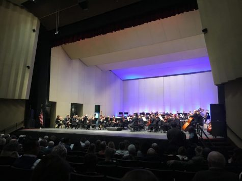 "The orchestrated band Fresno Philharmonic warms up in the William Saroyan Theatre for ""To Brahms with Love"" directed by Rei Hotoda on Feb, 24, 2019."