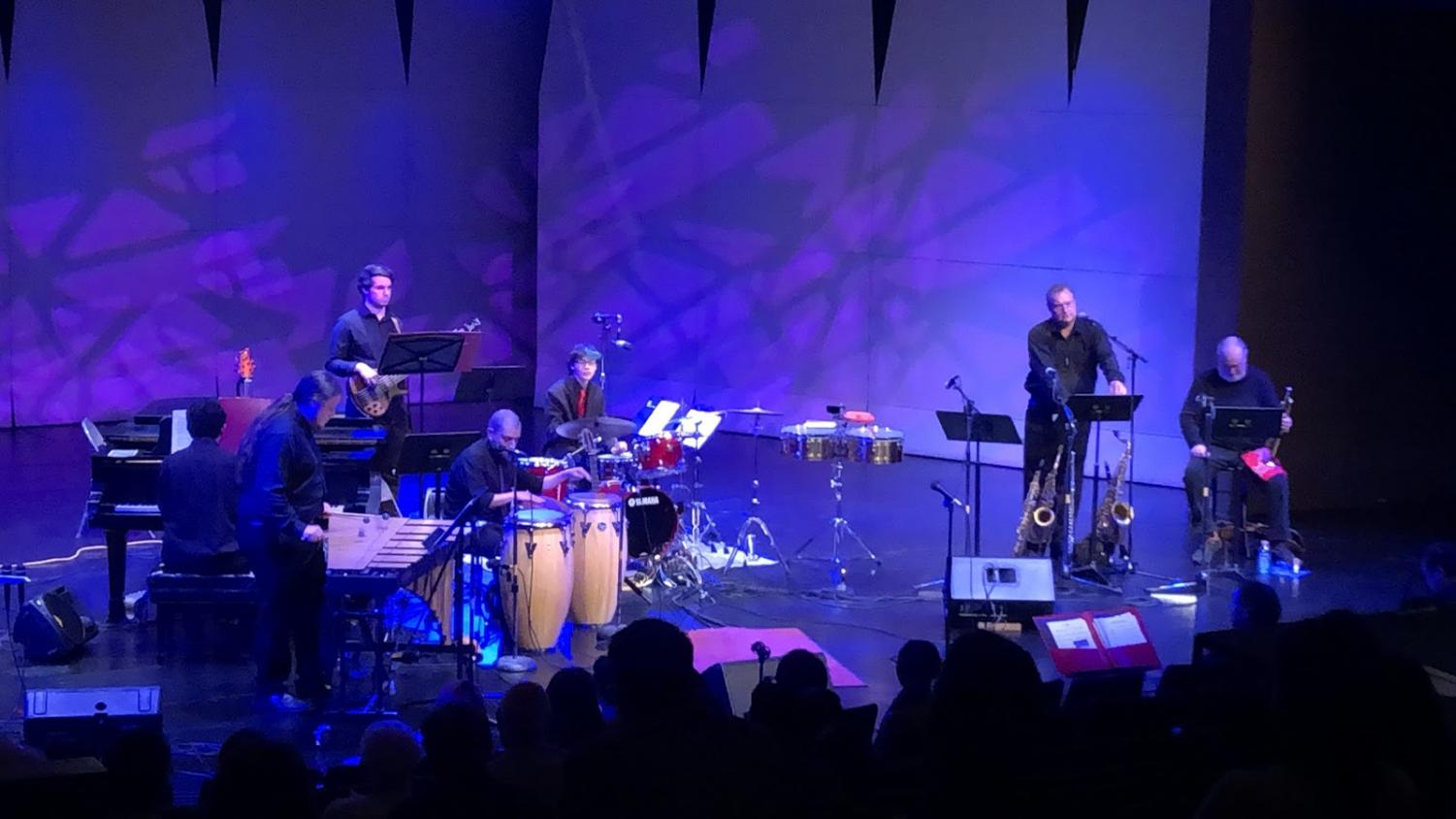 """Latin jazz ensemble performs """"Soul Sauce (Guachi Guara)"""" by, Dizzy Gillespie/Chano Pozo, with special guests, Kevin Cearley (trumpet), and Ron Catalano (saxophone)"""