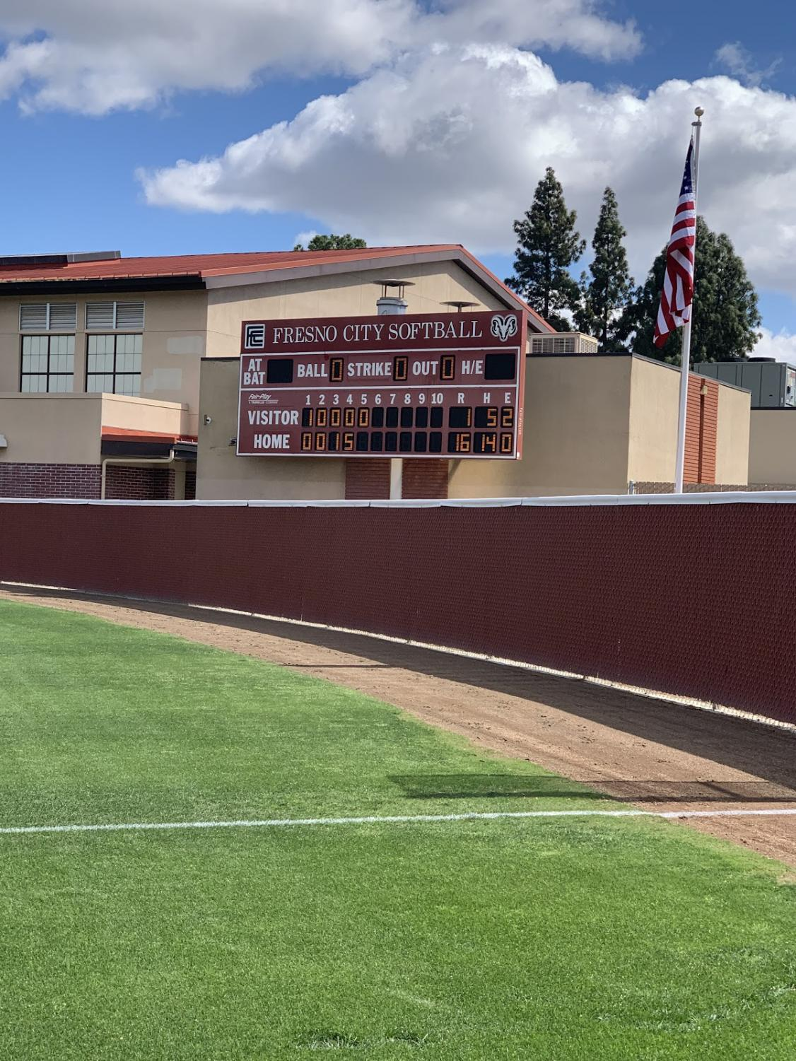 Fresno City College defeats Cerro Coso College 16-1 on Tuesday, April 16, 2019.