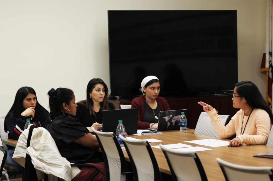 The Associated Student Government hopes to end the semester on a positive note after two tumultuous ASG presidencies. Marisol Valdivia, third from left, was defeated by DeRon Walker in the ASG election.