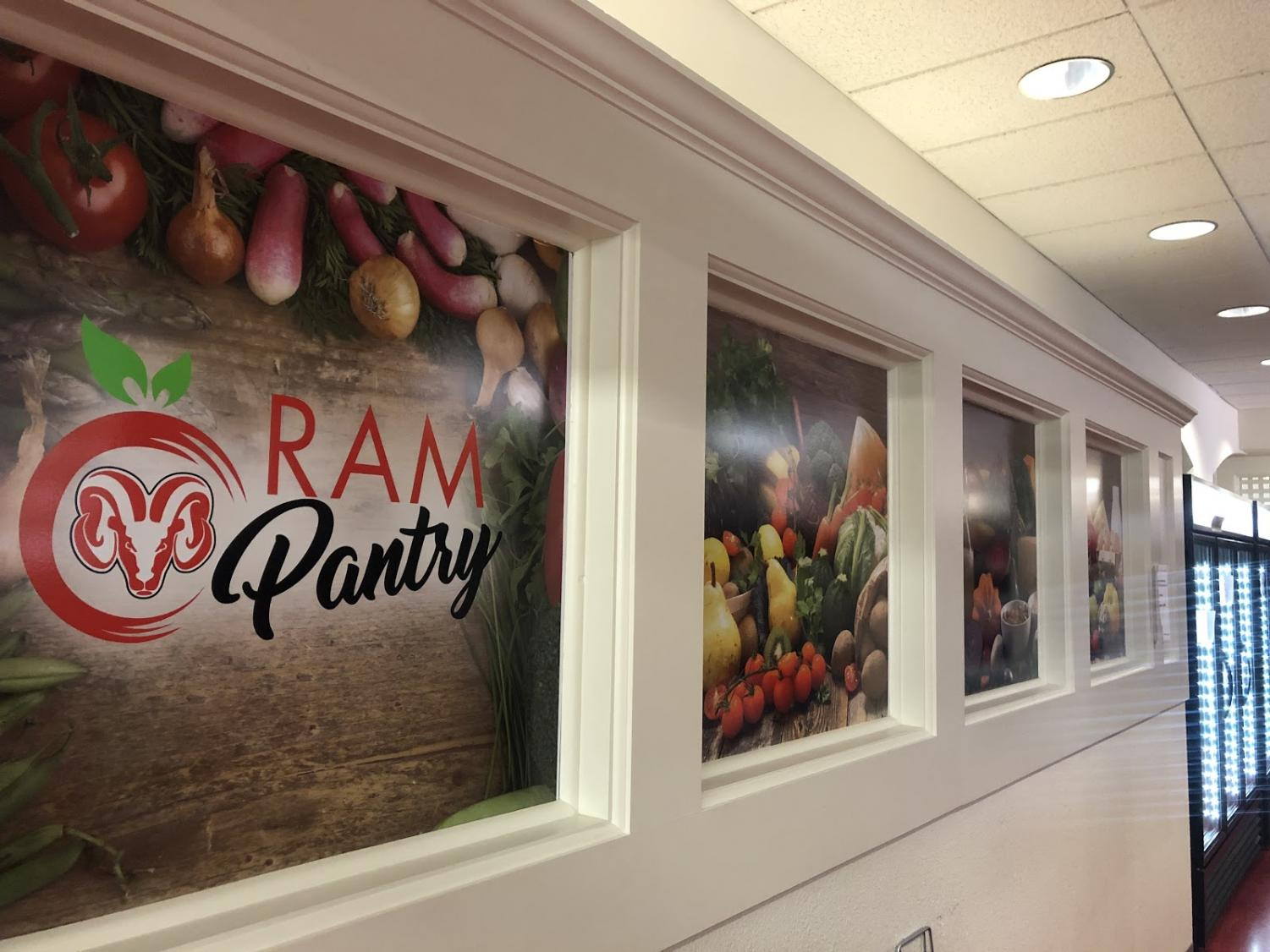 The Ram Pantry, located at the student bookstore, provides free food items to hungry students as long as they have a student ID, Tuesday, Aug. 20, 2019.