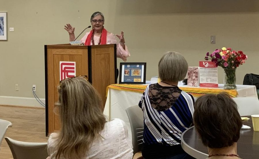 Odilia Galván Rodríguez gave a keynote speech about  the power of literary work to spark a conversation about current world issues, on Saturday, Sept. 14.