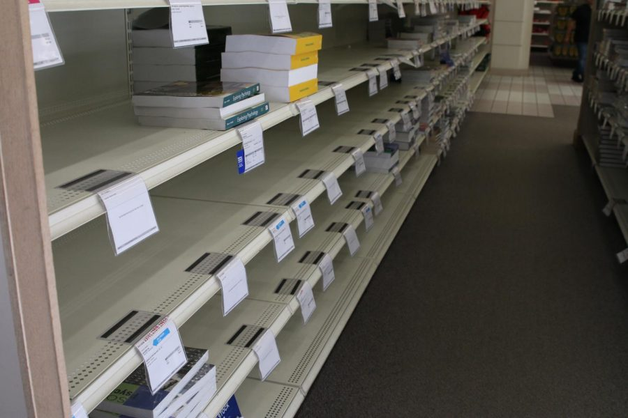 Empty+shelves%2C+wrong+editions%2C+and+incorrect+access+codes--the+bookstore+has+become+an+increasingly+unreliable+to+buy+textbooks+with+no+sign+of+stopping+on+week+five+of+the+semester%2C+Sept.+10%2C+2019.++