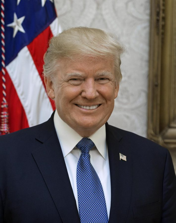 President Donald Trump faces an impeachment inquiry.  Photo courtesy of Wikimedia Commons.