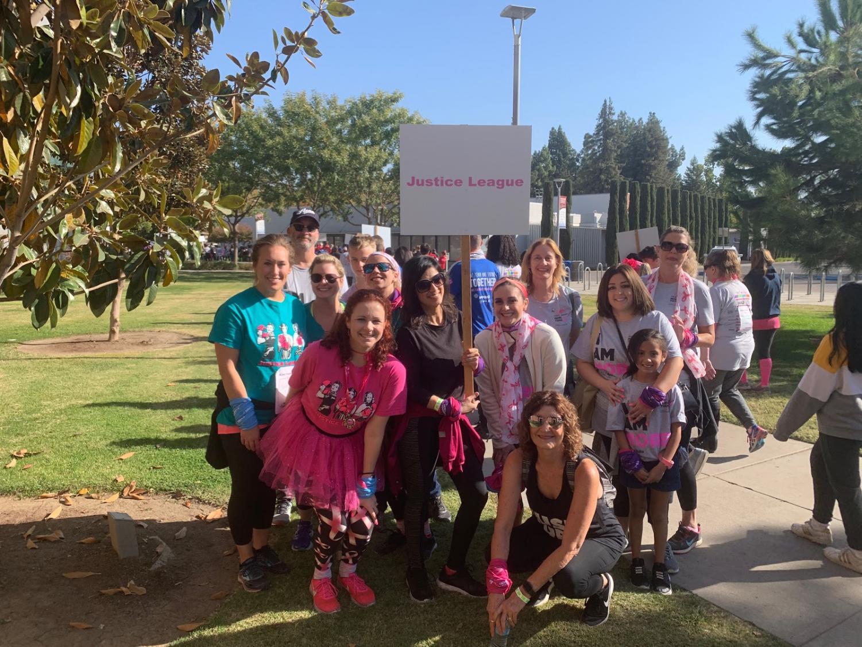 Jenna Kiekchaefer (front left in pink) and her team at the Susan G. Komen Walk on Saturday Oct. 12, 2019.
