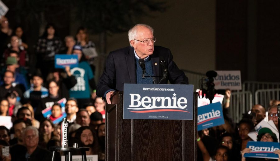 Bernie Sanders calls for a political revolution at FCC on Friday, Nov. 15, 2019. They [the fossil fuel industry and the healthcare industry]  are not going to give up without a struggle, he said. Are you prepared to engage in that struggle?