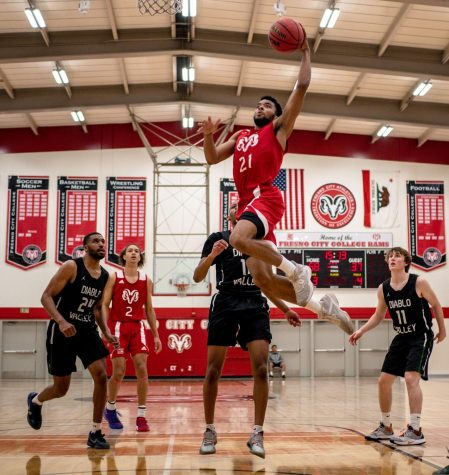 On Saturday, Feb. 29 The Rams defeated the Diablo Valley Vikings by a score of 91-72. Sophomore guard Keshawn Bruner [21] led the team in scoring with 22 points.