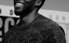 Chadwick Boseman speaking at the 2017 San Diego Comic Con International - Photo by Gage Skidore