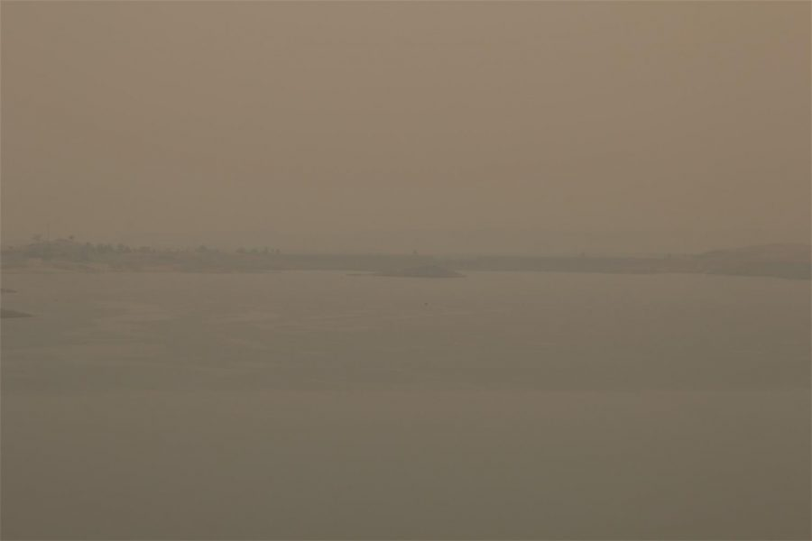 Millerton Lake, usually with Fresno residents, instead sits filled with smoke from the Creek Fire. Photo taken on Sept. 11, 2020.