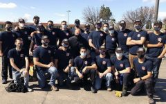 Fresno City College's Fire Academy poses for a photo while volunteering in town. Photo courtesy: City of Fresno's Instagram page.