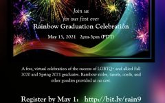 Flyer detailing FCCs Rainbow Graduation Celebration hosted by  the Allied Staff & Faculty Association.  Flyer courtesy: AlliedSFAs Twitter Page