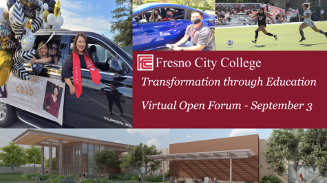 On Friday Sept. 3 Fresno City College President Carole Goldsmith held the fourth open forum of the fall 2021 semester. Image courtesy: FCC Sept. 3 Open Forum.